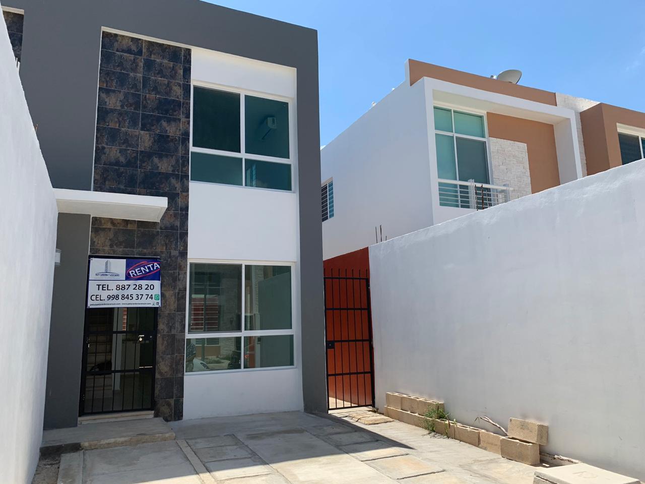 Casa Renta en Cancun 2 recámaras 1.5 baños Gran Santa Fe III