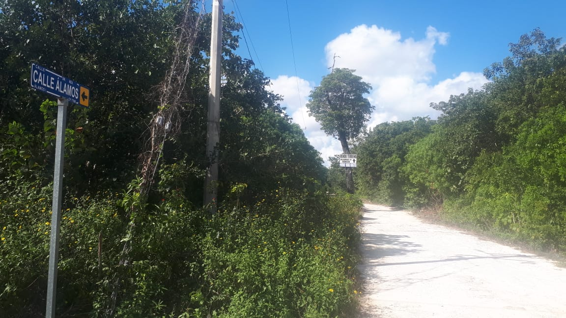 Terreno en Venta en Cancun 1982m2 Alamos II Calle Alamos